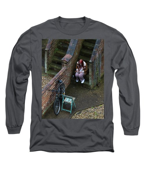 Girl On A Phone Long Sleeve T-Shirt