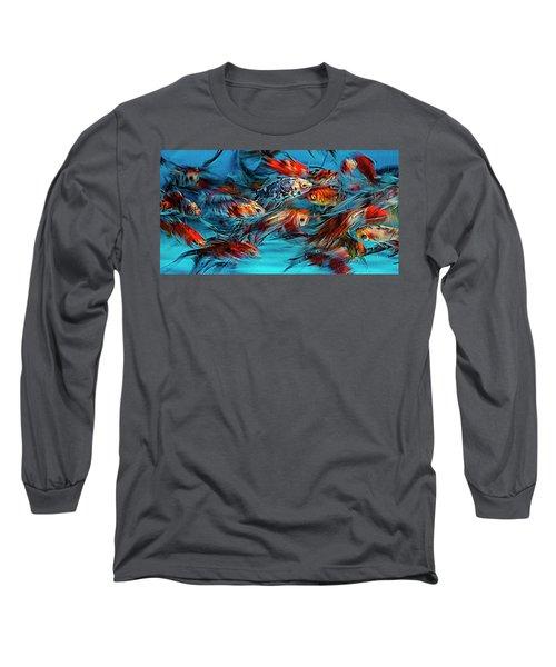 Gold Fish Abstract Long Sleeve T-Shirt