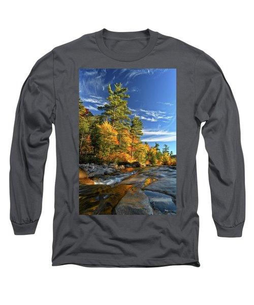 Golden Autumn Light Nh Long Sleeve T-Shirt