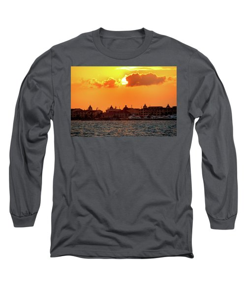 Golden Sky In Cancun Long Sleeve T-Shirt