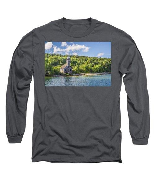 Grand Island East Channel Lighthouse Long Sleeve T-Shirt