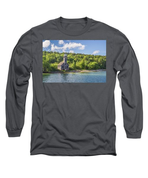 Grand Island East Channel Lighthouse Long Sleeve T-Shirt