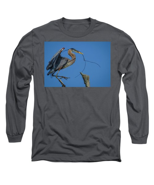 Great Blue Heron 4034 Long Sleeve T-Shirt