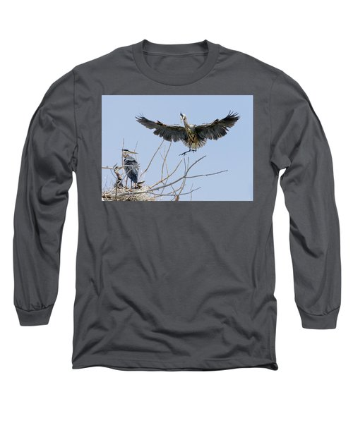 Great Blue Heron Rookery 2 Long Sleeve T-Shirt