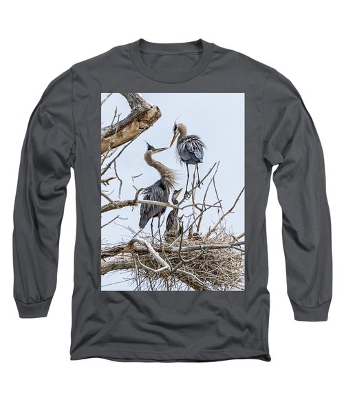 Great Blue Heron Rookery 4 Long Sleeve T-Shirt
