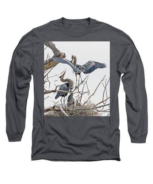 Great Blue Heron Rookery 5 Long Sleeve T-Shirt