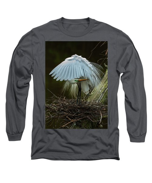 Great Egret Beauty Long Sleeve T-Shirt