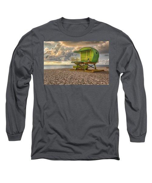 Green Lifeguard Stand Long Sleeve T-Shirt