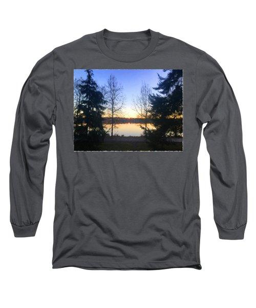 Greenlake Dawn Evergreens Long Sleeve T-Shirt