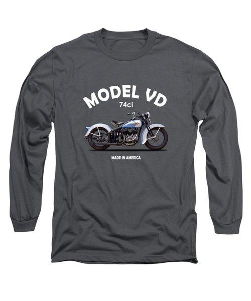Harley Model Vd 1935 Long Sleeve T-Shirt