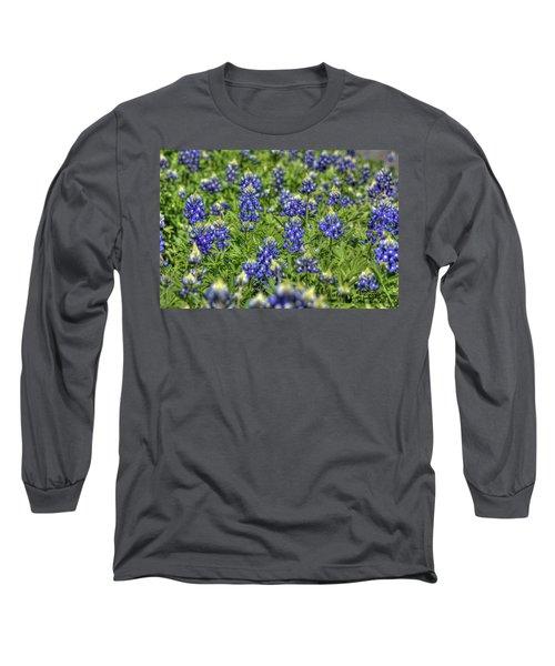 Heavenly Bluebonnets Long Sleeve T-Shirt