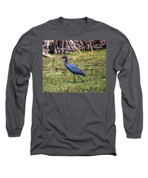 Heron Portrait Long Sleeve T-Shirt