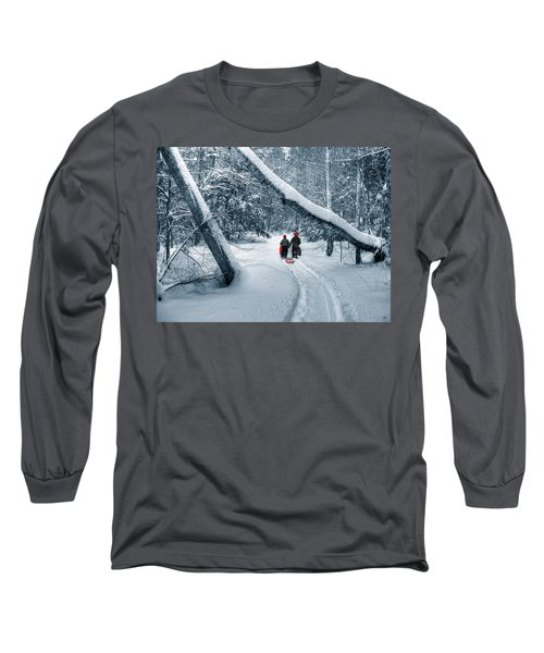 Hiking Into The Gully Long Sleeve T-Shirt