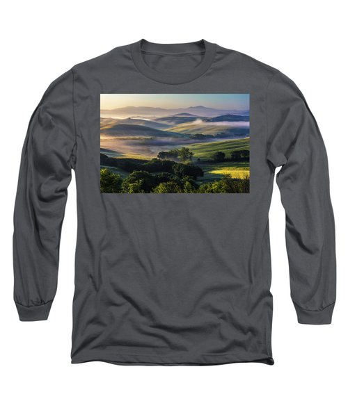 Hilly Tuscany Valley Long Sleeve T-Shirt