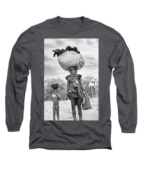 Himba Both Carrying  Long Sleeve T-Shirt