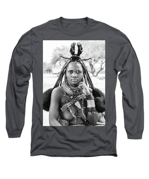 Himba Style Girl Long Sleeve T-Shirt