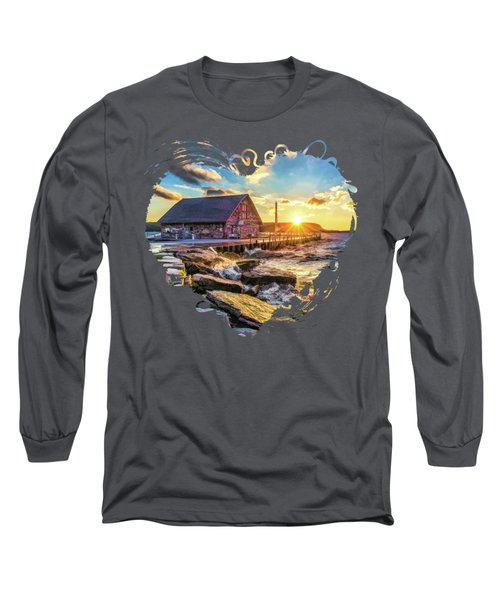 Historic Anderson Dock In Ephraim Door County Long Sleeve T-Shirt