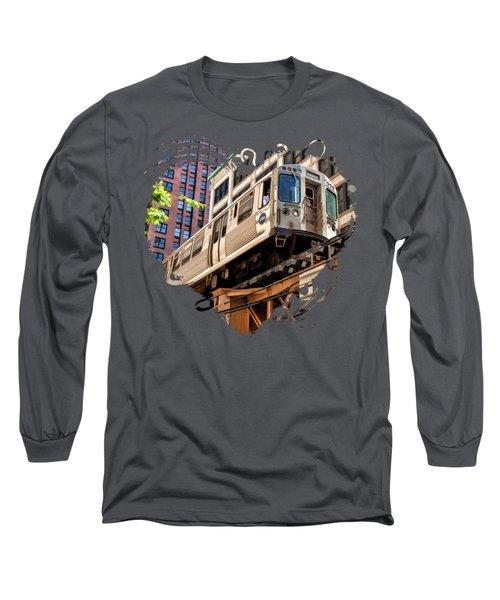 Historic Chicago El Train Long Sleeve T-Shirt