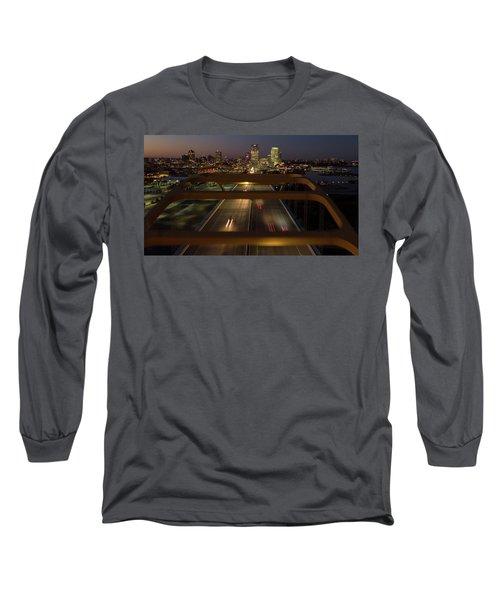 Long Sleeve T-Shirt featuring the photograph Hoan View by Randy Scherkenbach
