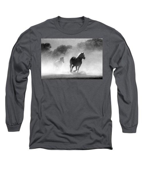 Horses On The Run Long Sleeve T-Shirt