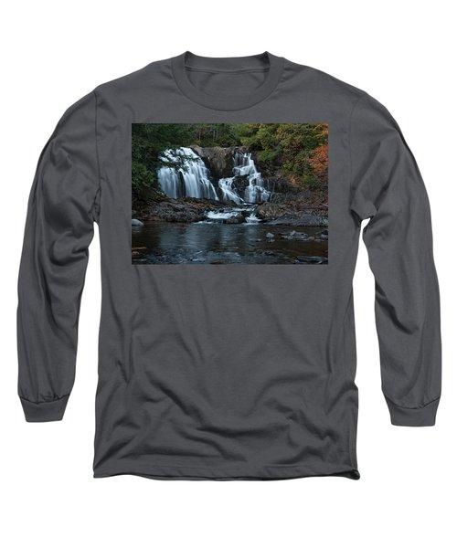 Long Sleeve T-Shirt featuring the photograph Houston Brook Falls by Rick Hartigan
