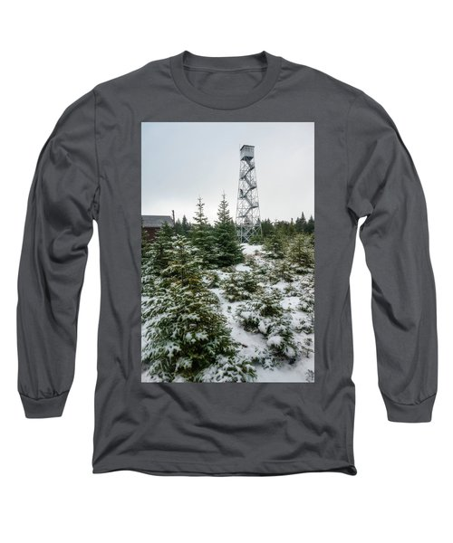 Hunter Mountain Fire Tower Long Sleeve T-Shirt