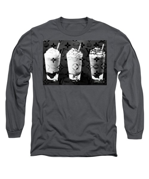 I Love My Frappuccino In Bw Long Sleeve T-Shirt