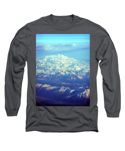 Ice Covered Mountain Top Long Sleeve T-Shirt