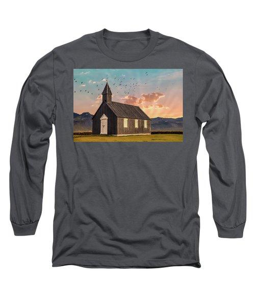 Iceland Chapel Long Sleeve T-Shirt