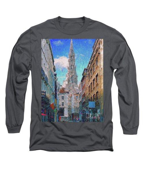 In-spired  Street Scene Brussels Long Sleeve T-Shirt