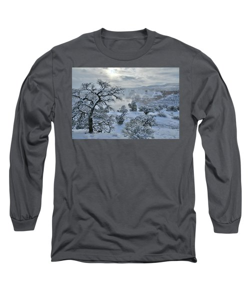 Independence Canyon At Sunrise In Colorado National Monument Long Sleeve T-Shirt