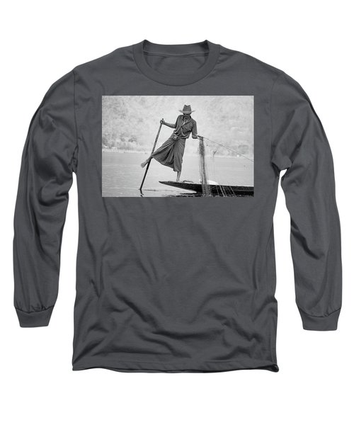 Inle Lake Fisherman Byw Long Sleeve T-Shirt