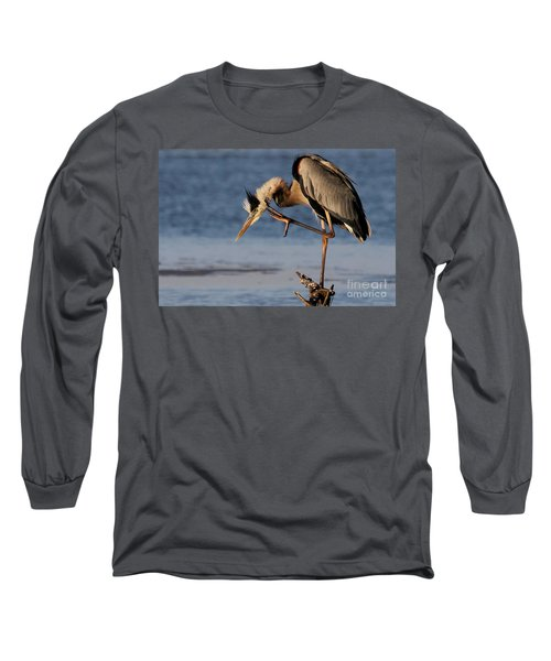 Itchy - Great Blue Heron Long Sleeve T-Shirt