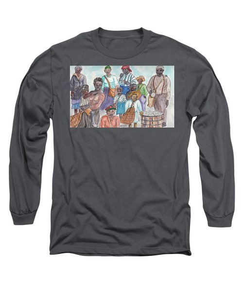 It's Cotton Picking Time At The Spangler Farm In South Alabama Long Sleeve T-Shirt