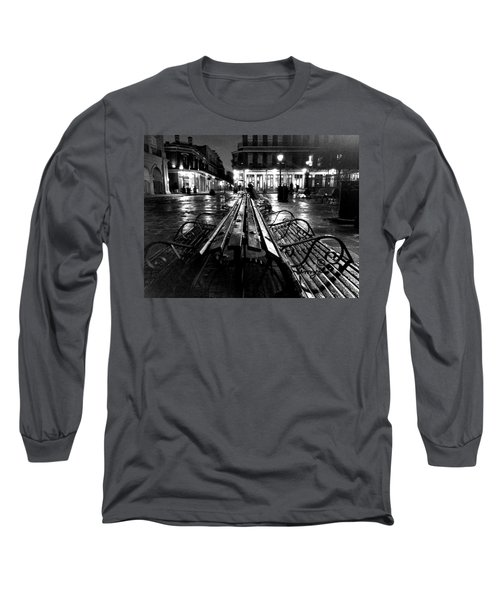 Jackson Square In The Rain Long Sleeve T-Shirt