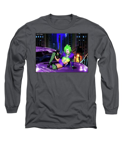 Joker The Color Purple Long Sleeve T-Shirt