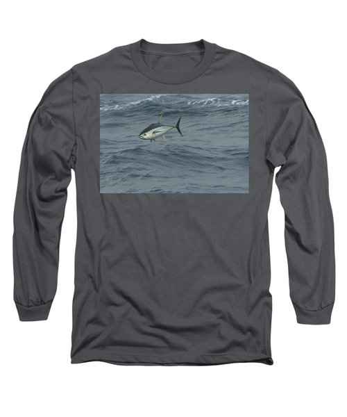 Jumping Yellowfin Tuna Long Sleeve T-Shirt