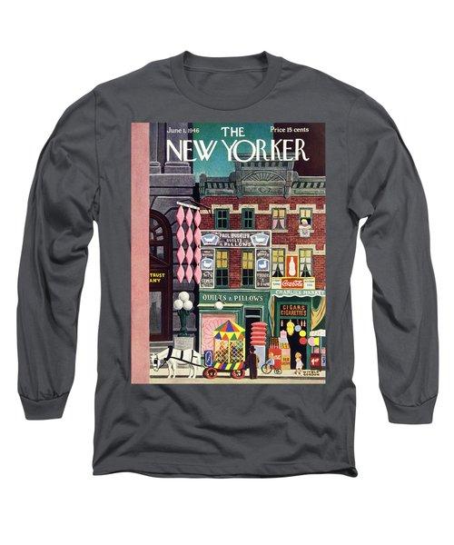 New Yorker June 1st 1946 Long Sleeve T-Shirt