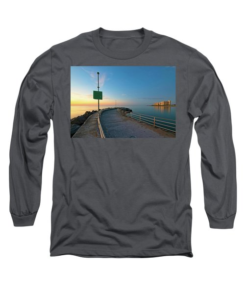 Jupiter Inlet Jetty Looking South Long Sleeve T-Shirt