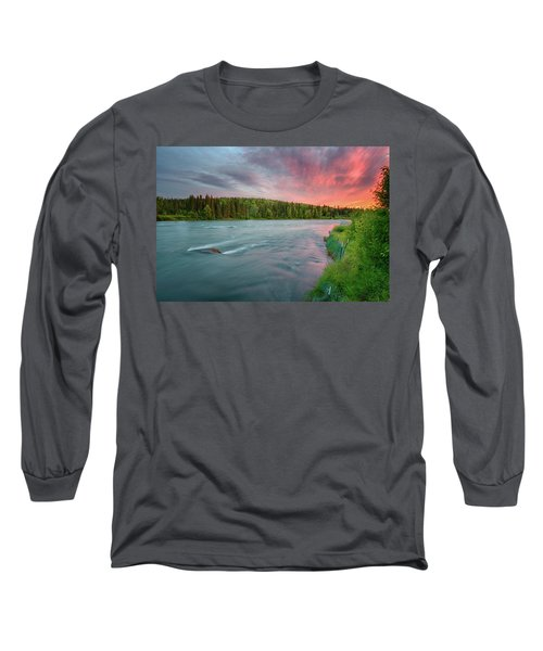 Kenai River Alaska Sunset Long Sleeve T-Shirt