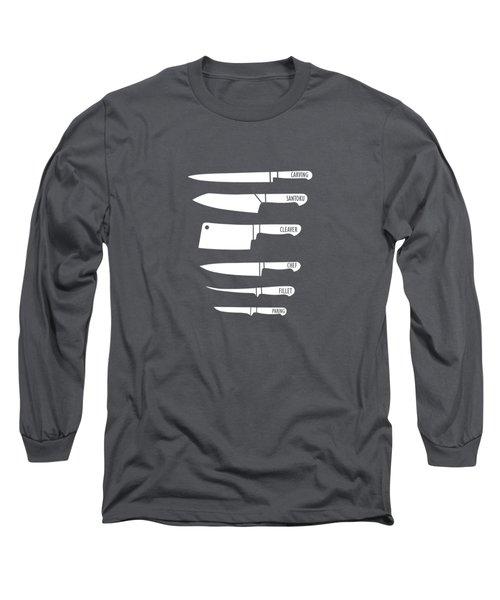 Kitchen Art Knife Guide Long Sleeve T-Shirt