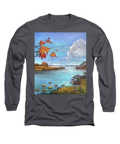 Kites, Clouds And Sailboats Long Sleeve T-Shirt