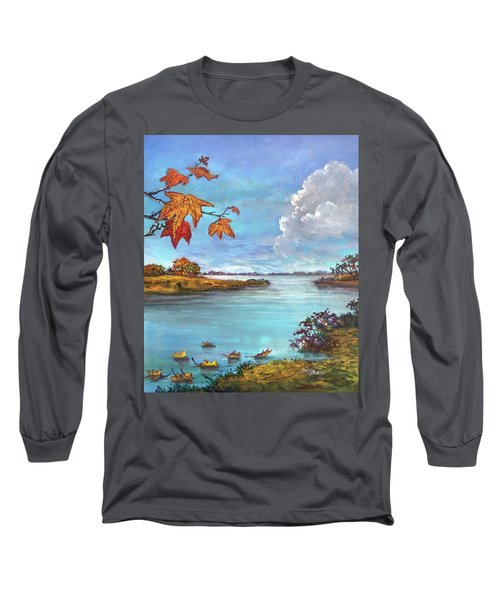 Kites, Clouds And Sailboats Long Sleeve T-Shirt