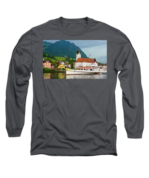 Lake Lucerne Steamer Long Sleeve T-Shirt
