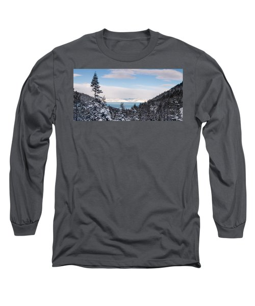 Lake Tahoe Panorama Long Sleeve T-Shirt