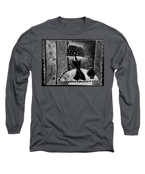 Lamp And Flowers. Long Sleeve T-Shirt