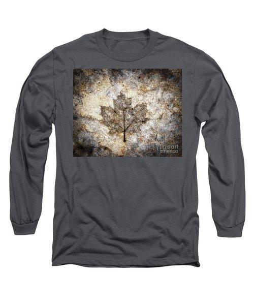 Leaf Imprint Long Sleeve T-Shirt