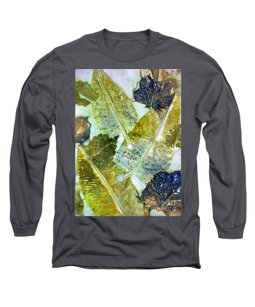 Leaves Of Nature Eco Dyed Print Long Sleeve T-Shirt