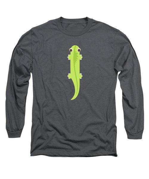 Letter I - Animal Alphabet - Iguana Monogram Long Sleeve T-Shirt