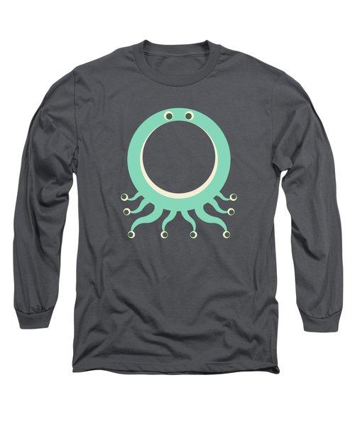 Letter O - Animal Alphabet - Octopus Monogram Long Sleeve T-Shirt
